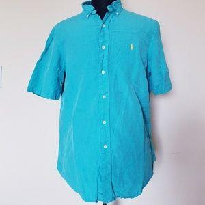 Ralph Lauren polo summer shirt green size medium